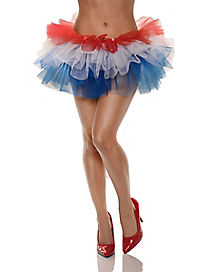 Tutu Skirt Red White and Blue
