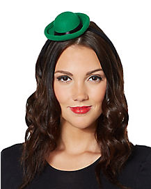 Mini Green Bowler Hat Headband