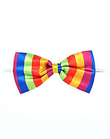 Clown Rainbow Bow Tie
