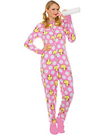 Adult Pink Duck Baby Pajama