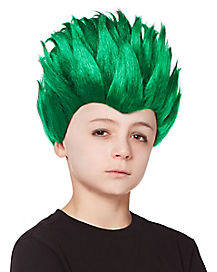 Kids Spiked Green Wig
