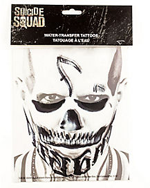 Diablo Face Tattoo - Suicide Squad