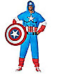 Adult Hooded Captain America Pajama Costume - Marvel