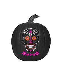 Sugar Skull Paint and Jewel Pumpkin Kit