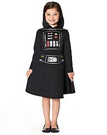 Kids Darth Vader Hooded Dress - Star Wars