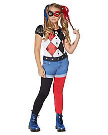 Kids Harley Quinn Costume - DC Girls