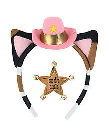 Kids Sheriff Callie Headband and Badge Set - Sheriff Callie's Wild West
