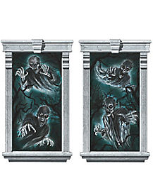 Cemetery Ghost Window Decal - Decoration