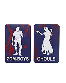 Zom-Boys and Ghouls Restroom Signs