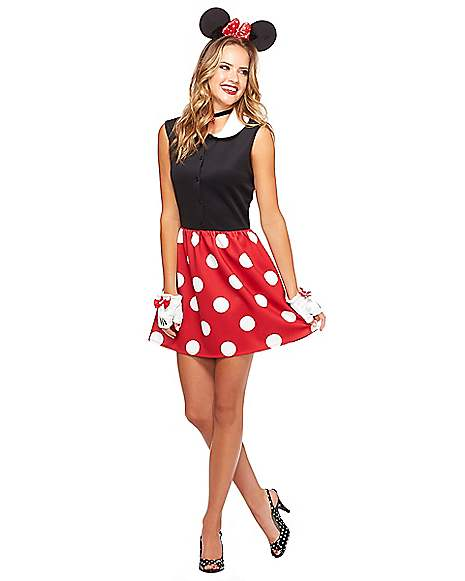 adult minnie mouse dress costume disney. Black Bedroom Furniture Sets. Home Design Ideas