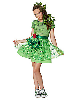 Kids Poison Ivy Costume - DC Girls