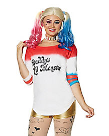 Adult Daddy's Lil Monster Varsity Top - Suicide Squad