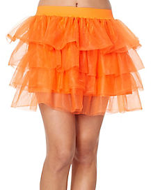 Adult Orange Tutu Skirt