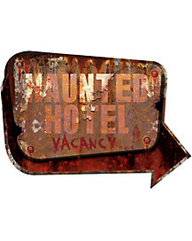 24 Inch Haunted Hotel Vacancy Sign - Decorations