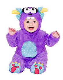 Baby Faux Fur Little Purple Monster Costume