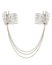 Skeleton Hair Chain