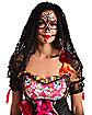 Adult Black Decorated Skull Veil