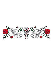 Decorated Skull and Roses Chest Decal