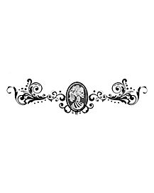 Vintage Skeleton Cameo Body Decal