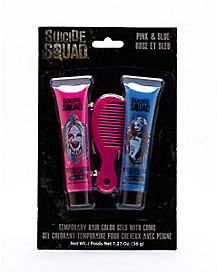 Harley Quinn Pink & Blue Hair Gel w/Comb - Suicide Squad