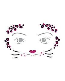 Kids Pink Leopard Face Decal