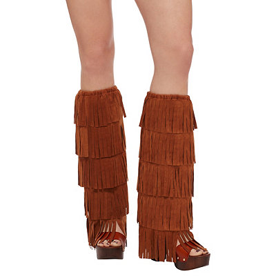 Vintage Style Boots 60s Fringe Boot Covers $14.99 AT vintagedancer.com