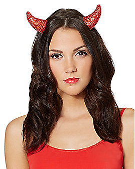 Rhinestone Devil Horns