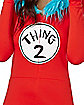 Adult Faux Fur Thing 2 Romper Costume - Dr. Seuss