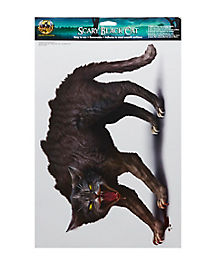 Scary Black Cat Cling - Decorations