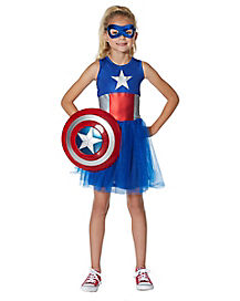 Kids Captain America Tutu Dress - Marvel Comics