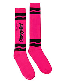 Razzmatazz Pink Crayon Knee High Socks - Crayola