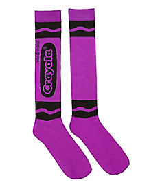Vivid Violet Crayon Knee High Socks - Crayola