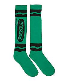 Shamrock Green Crayon Knee High Socks - Crayola