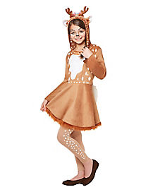 Kids Hooded Deer Dress Costume