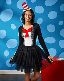 Adult Cat in the Hat Tutu Dress-Dr. Seuss