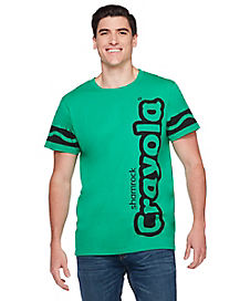 Adult Shamrock Green Crayon T Shirt - Crayola