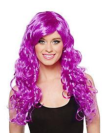 Vivid Violet Crayon Wig - Crayola