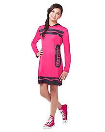 Tween Razzmatazz Pink Crayon Costume - Crayola