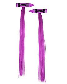 Violet Crayon Hair Extensions - Crayola