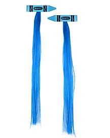 Blue Crayon Hair Extensions - Crayola