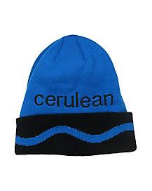 Cerulean Blue Crayon Beanie - Crayola