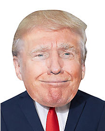 Giant Smirking Donald Trump Head Mask