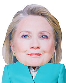 Giant Head Smiling Hillary Mask