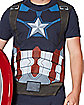 Captain America Sublimated T Shirt - Marvel Comics