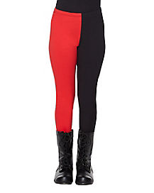 Kids Red and Black Leggings