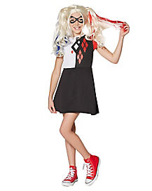 Kids Harley Quinn Dress - DC Girls