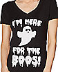 Adult Here For The Boos T Shirt