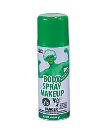 Green Body Spray Makeup