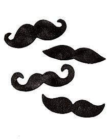 Black Adhesive Mustache 4 Pack