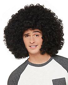 Black Sideburn Afro Wig